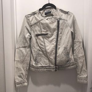 Zara Trafaluc Denim Moto Jacket